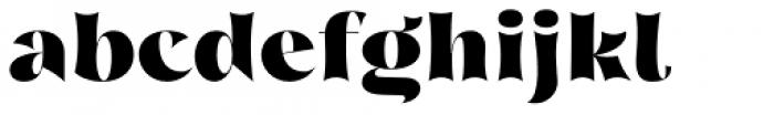 Nazare Exuberant Heavy Font LOWERCASE