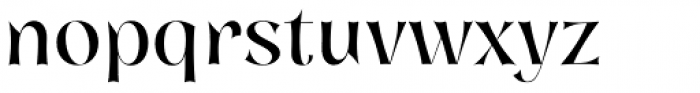 Nazare Exuberant Regular Font LOWERCASE
