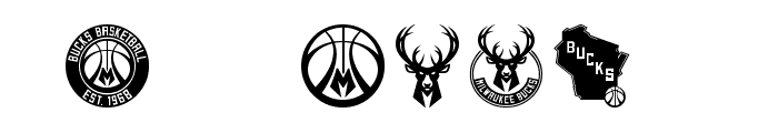NBA Milwaukee Bucks 2015 Font OTHER CHARS