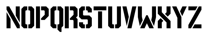 NCAA Army 2015 Font LOWERCASE