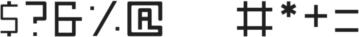 Nebraska Medium otf (500) Font OTHER CHARS