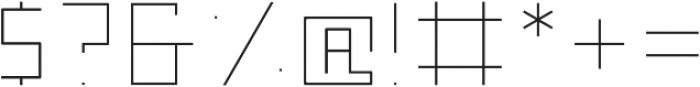 Nebraska Ultra Light ttf (300) Font OTHER CHARS