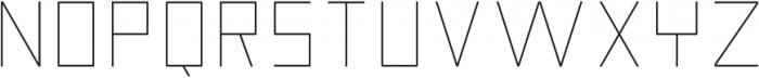Nebraska Ultra Light ttf (300) Font UPPERCASE