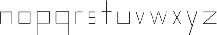 Nebraska Ultra Light ttf (300) Font LOWERCASE