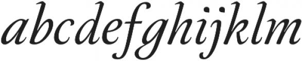 Neftali Pro Thin Italic otf (100) Font LOWERCASE