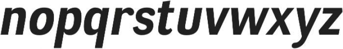 Negotiate Bold Italic otf (700) Font LOWERCASE
