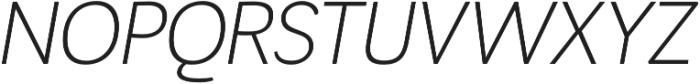 Negotiate Light Italic otf (300) Font UPPERCASE