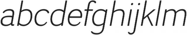 Negotiate Light Italic otf (300) Font LOWERCASE