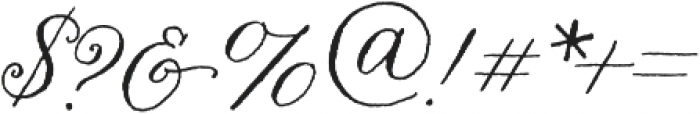 Nelly Script Flourish Regular otf (400) Font OTHER CHARS