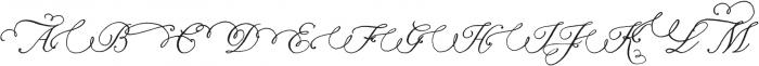 Nelly Script Flourish Regular otf (400) Font UPPERCASE