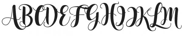 Nelvita Script otf (400) Font UPPERCASE