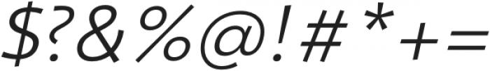 Nema Light Italic otf (300) Font OTHER CHARS