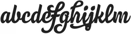 Nemocon Script otf (400) Font LOWERCASE