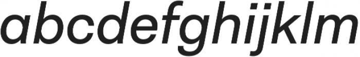 Neogrotesk Ess Alt Regular It otf (400) Font LOWERCASE