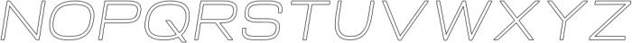 Neon Italic Outline otf (400) Font UPPERCASE
