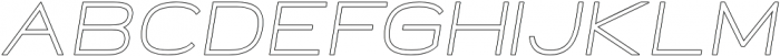 Neon Italic Outline otf (400) Font LOWERCASE
