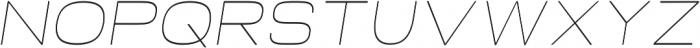 Neon Thin Italic otf (100) Font LOWERCASE