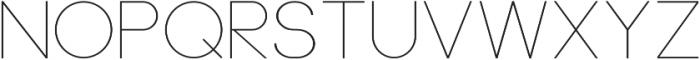 Neou Thin otf (100) Font UPPERCASE