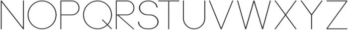 Neou Thin otf (100) Font LOWERCASE