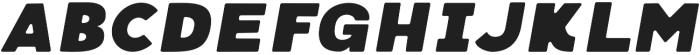 Neretto Sans Oblique Round otf (400) Font UPPERCASE