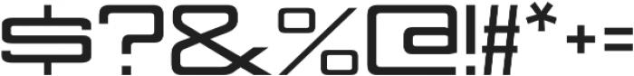 Nesobrite Expanded Black otf (900) Font OTHER CHARS