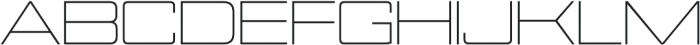 Nesobrite Expanded Light otf (300) Font UPPERCASE