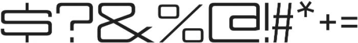 Nesobrite Expanded otf (400) Font OTHER CHARS