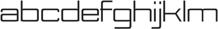 Nesobrite Expanded otf (400) Font LOWERCASE