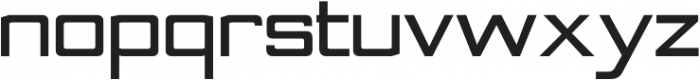 Nesobrite Semi-Expanded Black otf (900) Font LOWERCASE