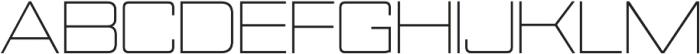 Nesobrite Semi-Expanded Light otf (300) Font UPPERCASE