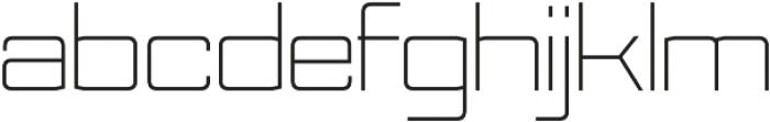 Nesobrite Semi-Expanded Light otf (300) Font LOWERCASE