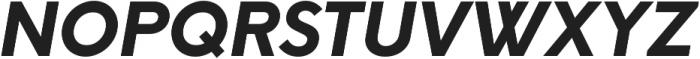 Neue Hans Kendrick ExtraBold Italic ttf (700) Font UPPERCASE