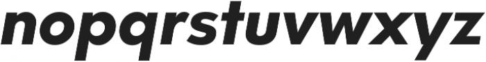 Neue Hans Kendrick ExtraBold Italic ttf (700) Font LOWERCASE