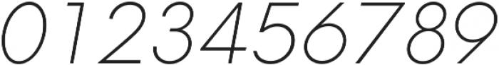 Neue Hans Kendrick ExtraLight Italic ttf (200) Font OTHER CHARS