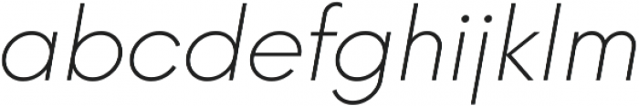 Neue Hans Kendrick ExtraLight Italic ttf (200) Font LOWERCASE