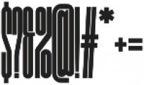 NeueMatic Compressed ExtraLight otf (200) Font OTHER CHARS