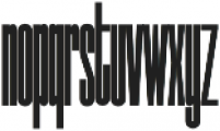 NeueMatic Compressed ExtraLight otf (200) Font LOWERCASE