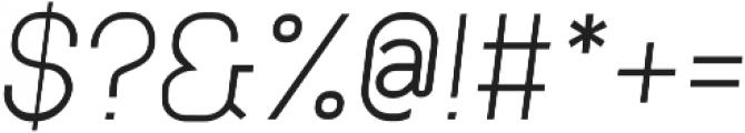 Neuesanstara Light Oblique otf (300) Font OTHER CHARS