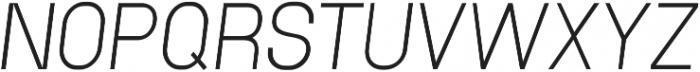 Neuesanstara Light Oblique otf (300) Font UPPERCASE