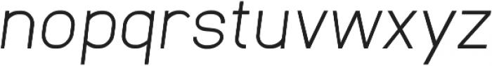 Neuesanstara Light Oblique otf (300) Font LOWERCASE