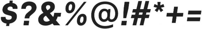 Neufile Grotesk Bold Italic otf (700) Font OTHER CHARS