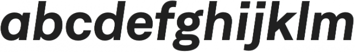 Neufile Grotesk Bold Italic otf (700) Font LOWERCASE