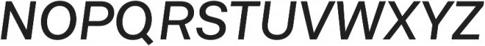 Neufile Grotesk Medium Extended Italic otf (500) Font UPPERCASE
