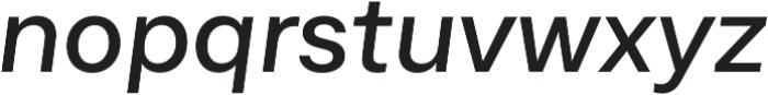 Neufile Grotesk Medium Extended Italic otf (500) Font LOWERCASE