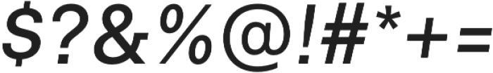 Neufile Grotesk Medium Italic otf (500) Font OTHER CHARS
