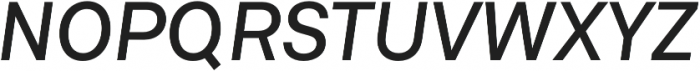 Neufile Grotesk Medium Italic otf (500) Font UPPERCASE