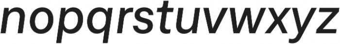 Neufile Grotesk Medium Italic otf (500) Font LOWERCASE
