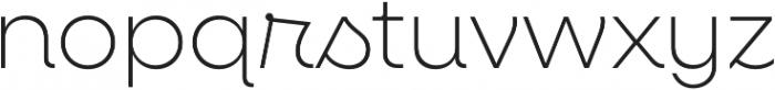 Neulis ExtraLight otf (200) Font LOWERCASE