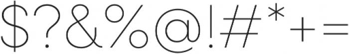 Neulis Thin otf (100) Font OTHER CHARS
