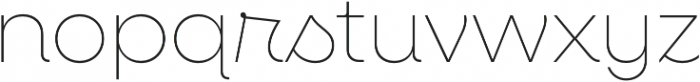 Neulis Thin otf (100) Font LOWERCASE
